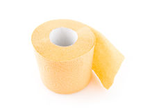 Roll of toilet paper. On a white background Stock Photo