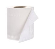 Roll of toilet paper Royalty Free Stock Photos