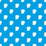 Roll of toilet paper on holder pattern seamless blue Stock Image
