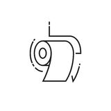 Roll of toilet paper icon Stock Photo