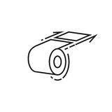 Roll of toilet paper icon Royalty Free Stock Photography