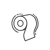 Roll of toilet paper icon Stock Photography