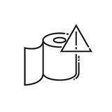 Roll of toilet paper icon Royalty Free Stock Image