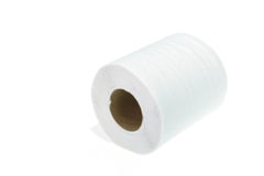 Roll of toilet paper isolated on white Royalty Free Stock Images