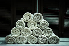 Roll of towels Stock Image