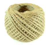 Roll of twine. Isolated on white background royalty free stock photo