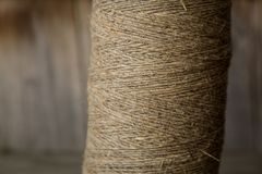 A roll of twine. Close-up. Selective focus royalty free stock photos