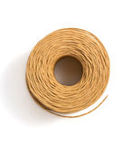 Roll of twine cord isolated on white Stock Image