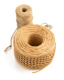 Roll of twine cord isolated on white Royalty Free Stock Photos