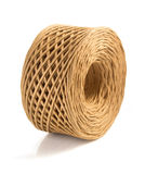 Roll of twine cord isolated on white Royalty Free Stock Images