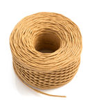 Roll of twine cord isolated on white Royalty Free Stock Image