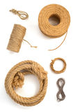 Roll of twine cord and thread on white Royalty Free Stock Images