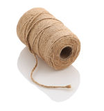 Roll of twine cord on a white background Stock Photo