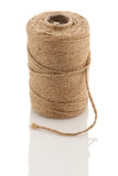 Roll of twine cord on a white background Royalty Free Stock Image