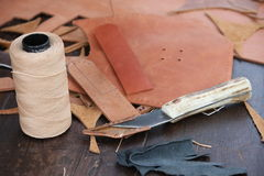 Roll of Twine and cutter Royalty Free Stock Images