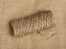 Roll of a twine jute. Royalty Free Stock Image