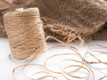 Roll of twine jute Royalty Free Stock Photos