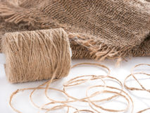 Roll of twine jute Royalty Free Stock Photography