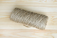 Roll of a twine jute. Royalty Free Stock Photography