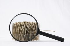 Roll of Twine and Loupe Stock Photo