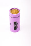 Roll of two euro coins Stock Image