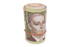 Roll of ukrainian hryvna bills Stock Photo