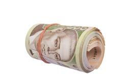 Roll of ukrainian hryvna bills Stock Images