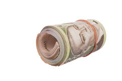 Roll of ukrainian hryvna bills Royalty Free Stock Photo