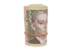 Roll of ukrainian hryvna bills Royalty Free Stock Images