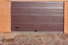 Roll Up Automatic Garage Gate Stock Image