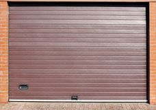 Roll Up Automatic Garage Gate Royalty Free Stock Images