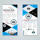 Modern roll-up business banners vector template royalty free illustration