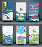 Roll Up Banner Design Royalty Free Stock Photography