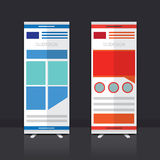 Roll up banner design. Roll up banner stand  design Royalty Free Stock Photos