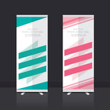 Roll up banner design. Roll up banner stand vector design Stock Photos