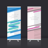 Roll up banner design. Roll up banner stand vector design Stock Photo