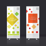 Roll up banner design. Roll up banner stand vector design Royalty Free Stock Images