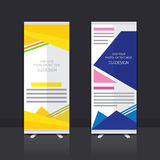 Roll up banner design. Roll up banner stand vector design Royalty Free Stock Photo