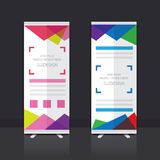 Roll up banner design. Roll up banner stand vector design Stock Images