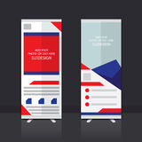 Roll up banner design. Roll up banner stand vector design Stock Photography