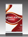 Roll up banner for jewelry shop Stock Photography