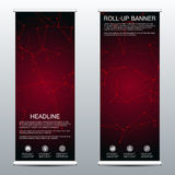 Roll up banner for presentation and publication. Medicine, science, technology and business templates. Structure of Royalty Free Stock Photography