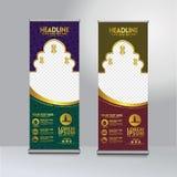 Roll up banner ramadan kareem moment design template , modern publication display stock illustration