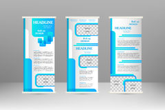 Roll up banner Stock Photo