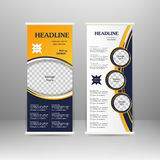 Roll up banner. Stand design. For advertisement, poster, brochure, presentation, business template Vector illustration stock illustration