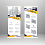 Roll up banner Royalty Free Stock Photos
