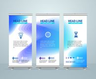 Roll Up Banner Stand Design Template. Vector royalty free illustration