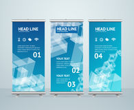 Roll Up Banner Stand Design. Vector Royalty Free Stock Images