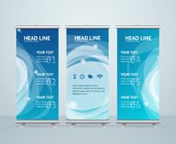 Roll Up Banner Stand Design. Vector Royalty Free Stock Image