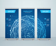 Roll Up Banner Stand Design. Vector Stock Photos